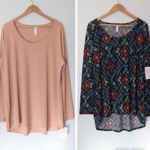 LuLaRoe Lynnae long sleeve shirts bundle size 3XL